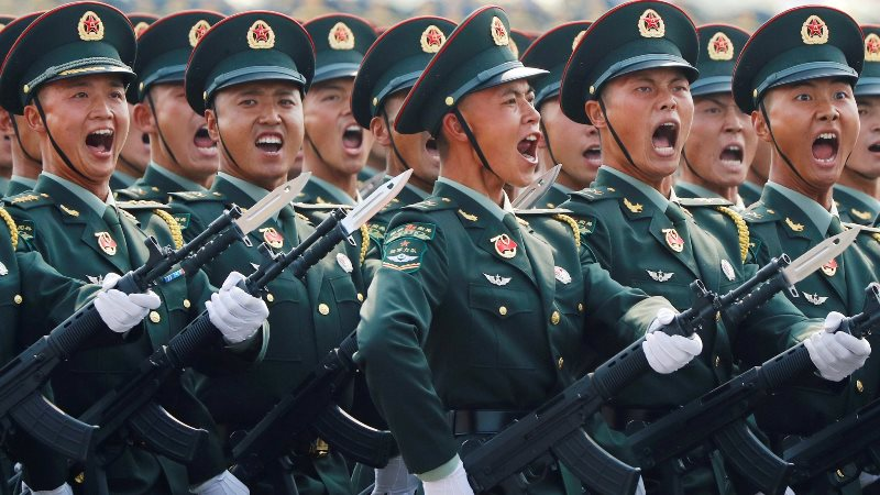 in the list of top ten strongest armies in the world china got third position